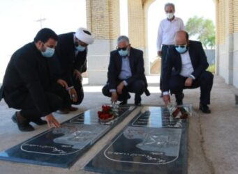 حضور مدیر عامل شرکت نفت ایرانول و هیات همراه در یادمان شهدای غواص خرمشهر