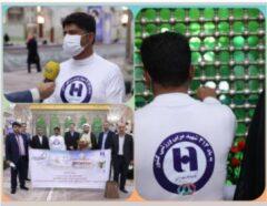 ۱۰۰۰ کیلومتر پیاده روی همکار جانباز بانک صادرات ایران از شاهچراغ تا مرقد امام (ره)