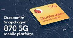 استفاده از پردازنده Snapdragon 870 در Mi 10