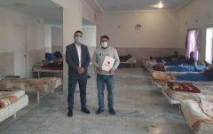 """اهدا اقلام بهداشتی به موسسه ماژین مهر هشتگرد توسط بیمه """"ما"""""""